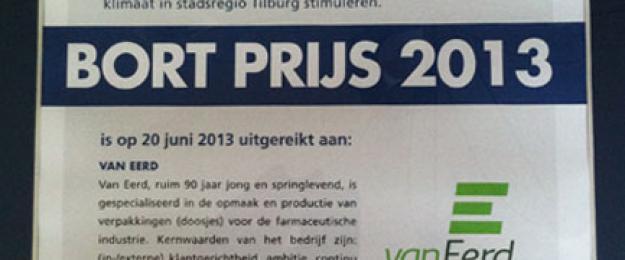 Van Eerd wins BORT prize 2013
